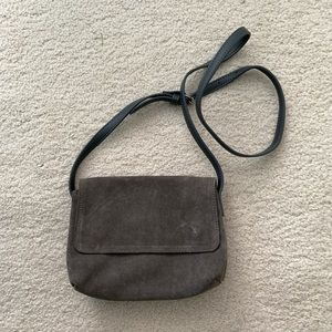 Urban Outfitters Grey Suede Crossbody Purse